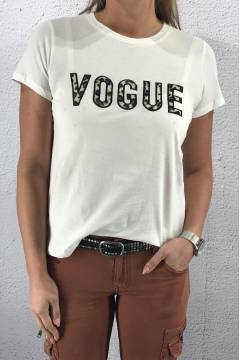 6A092 T-shirt Fur Vogue Off white