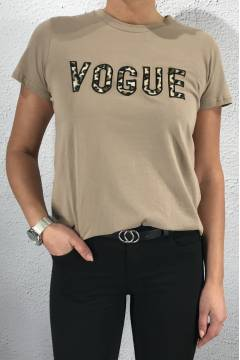 6A092 T-shirt Fur Vogue Beige