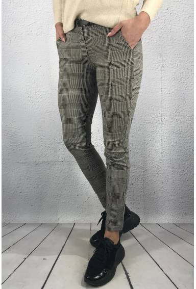 815 Pant Checkered Beige/Black