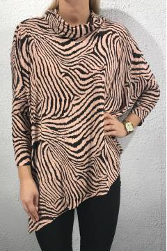 5444 Top zebra Pink/Chocolate