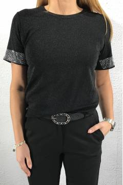 NL53294 Top lurex Black