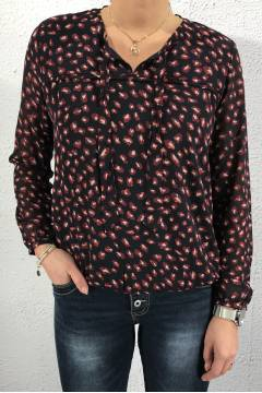 Blouse multiprint Navy/Wine