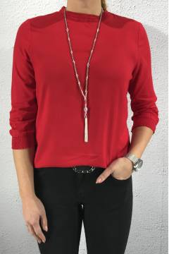 Solid smockblouse  Love red