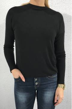 Top l/s turtle neck Black