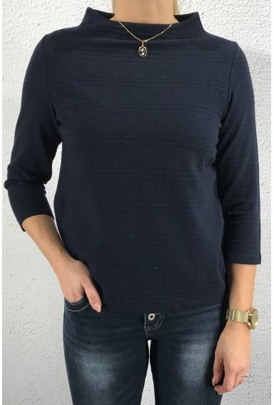 Krisi Sweater structure Deep Blue