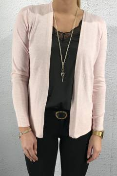 Cardigan basic Cosy Rose melange