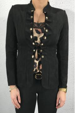 Jacket with frill Black