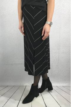 Skirt stripe mix Black/White