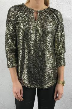 19284 Blouse/Top Buckle Goldprint