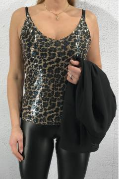 1088 Tank Top sequins animal