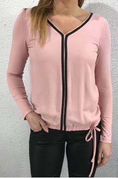 Blouse Ayla v-neck cosy rose