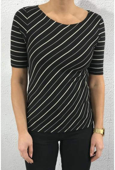 Top Ada stripe Black/White