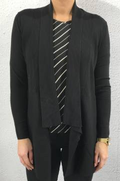 Cardigan rib part black