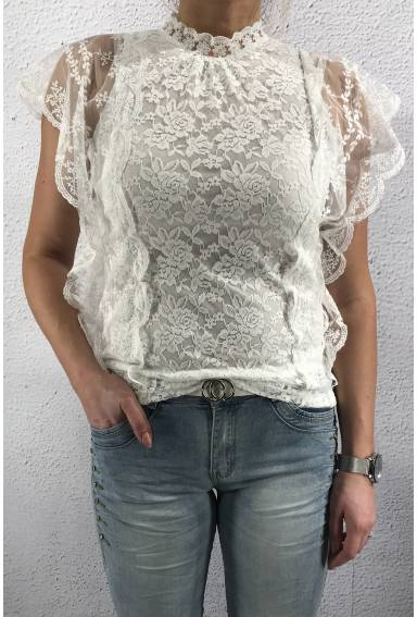 1021 Blouse lace Offwhite
