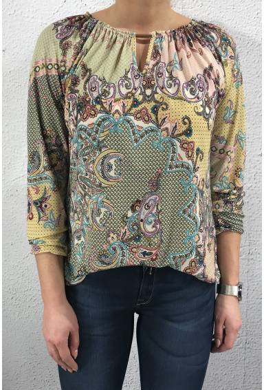 2003 Top/Blouse buckle Paisley