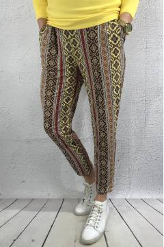 1909 Pant printed Yellow