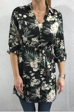 Erob-8 Tunic Black/Flower
