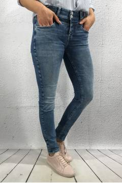 York QR high waist Denim Blue