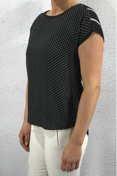 32320 Blouse dots Black
