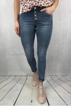 JW 1064-B Jeans bling buttonfly Lt.Denim