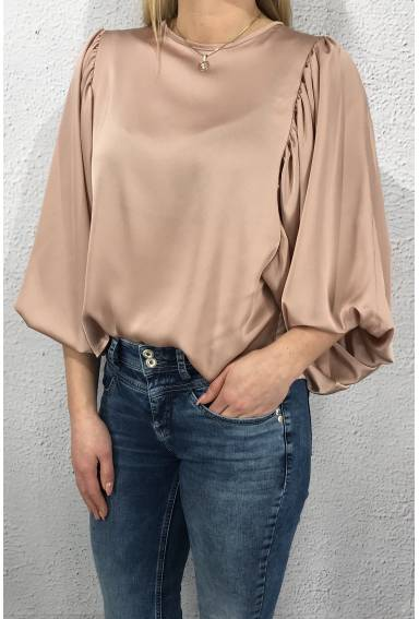 3513 Blouse wide sleeves Dusty Rose