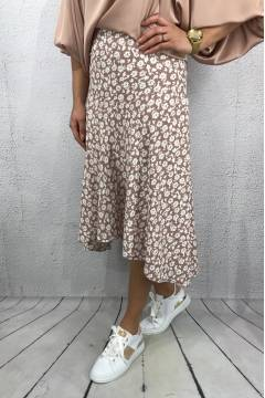 63007 Skirt flower Dusty rose