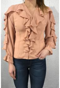 2017 Blouse frill Dusty Rose