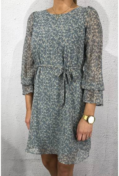 Noki  Dress Blue/Crem/Flower