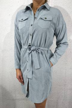 Vester Shirt Dress L.Blue