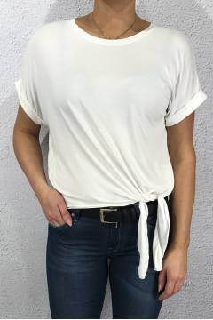 2011 T-shirt with tie White