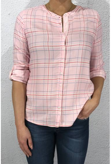 Blouse check Pink