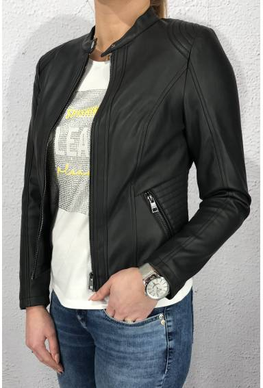 Jacket soft PU Black