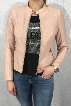 Jacket soft PU Pale Rose washed