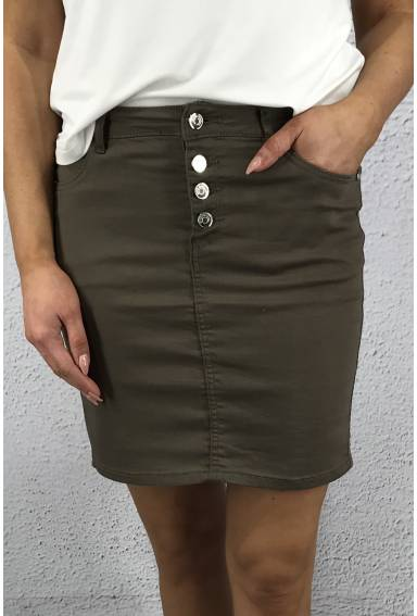Skirt with buttons Khaki