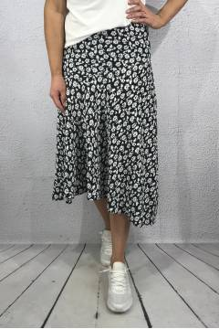 63007 Skirt flower Black