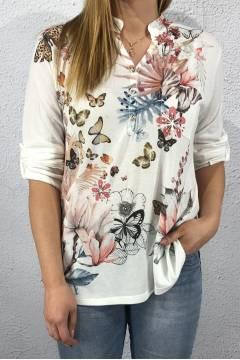 20189 Blouse/Top butterfly Creme