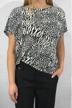 63023 Jungleprint White/Black