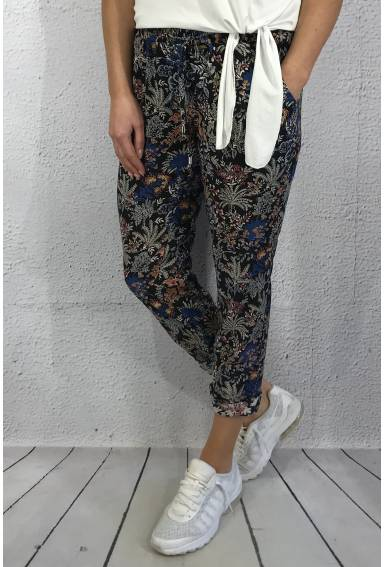 Pant flowerprint Night Blue