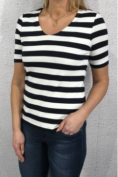 Qr Hedy T-shirt stripes Blue/White