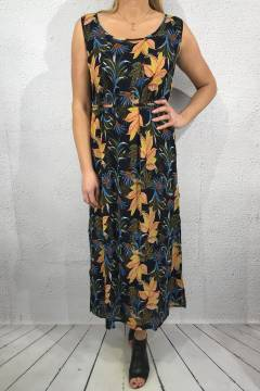 Dress print Tropical/Blue