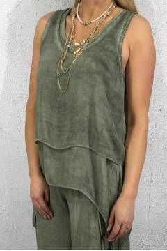 9236 Tank Top twice Khaki
