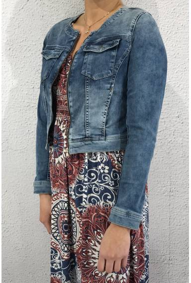 Denimjacket new cropped Heavy Blue
