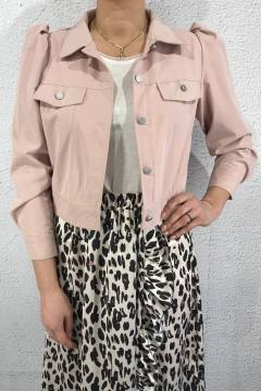 1064 Jacket with puff sleaves Pink