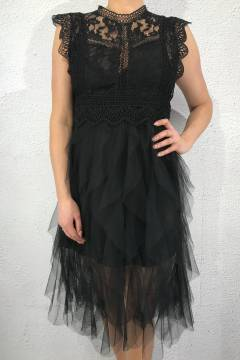 63101 Dress with tulle Black