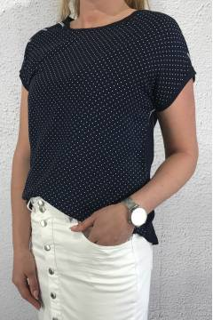 32320 Blouse dots Navy