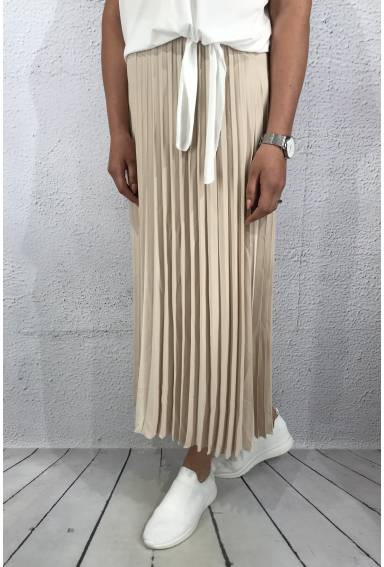 Marta Skirt pletated Sand