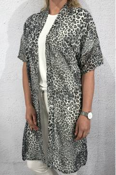 0909 Kaftan animalprint Grey/Leo