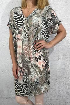 Tunic Animal/Paisley pink