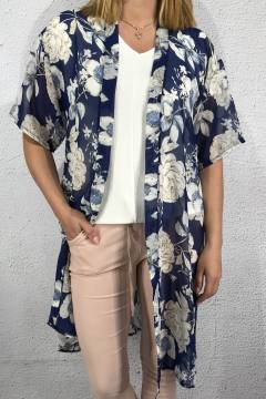 Kaftan Flower Blue