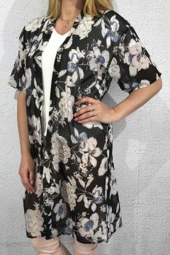 Kaftan Flower Black